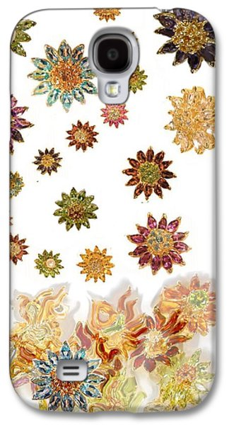 Floral Jewelry Galaxy S4 Cases - Raining Daisies Galaxy S4 Case by Jane A  Gordon