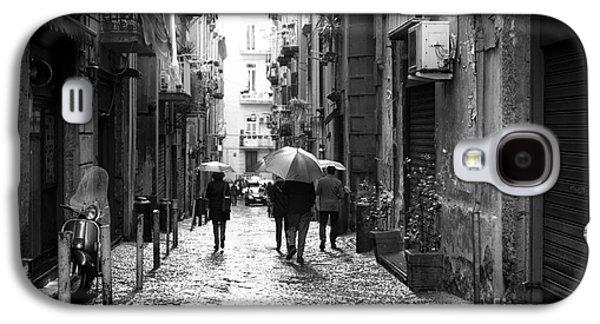 Rainy Day Photographs Galaxy S4 Cases - Rainy Day in Naples Galaxy S4 Case by John Rizzuto