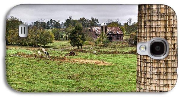 Rainy Day Photographs Galaxy S4 Cases - Rainy Day on the Farm Galaxy S4 Case by Douglas Barnett