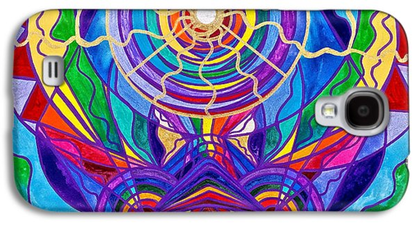 Spirituality Galaxy S4 Cases - Raise Your Vibration Galaxy S4 Case by Teal Eye  Print Store