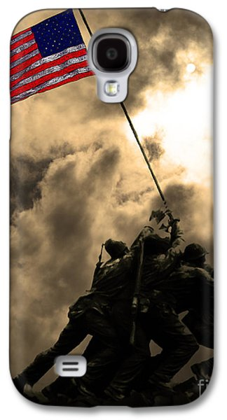 4th July Galaxy S4 Cases - Raising The Flag at Iwo Jima 20130211 Galaxy S4 Case by Wingsdomain Art and Photography