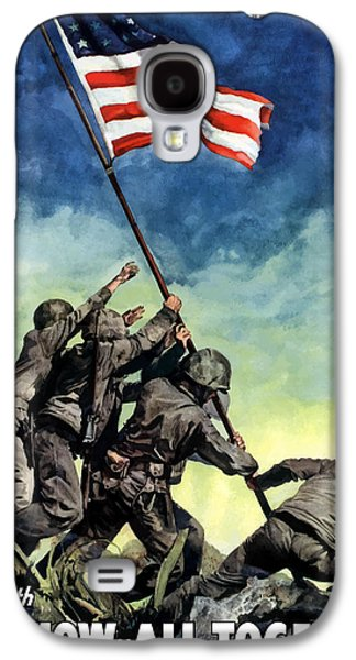Raising The Flag On Iwo Jima Galaxy S4 Case by War Is Hell Store