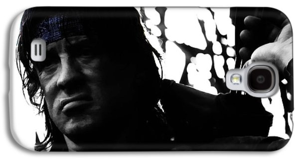 Boxer Galaxy S4 Cases - Rambo They Drew First Blood Galaxy S4 Case by Brian Reaves