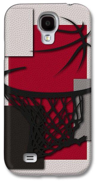 Raptors Galaxy S4 Cases - Raptors Hoop Galaxy S4 Case by Joe Hamilton