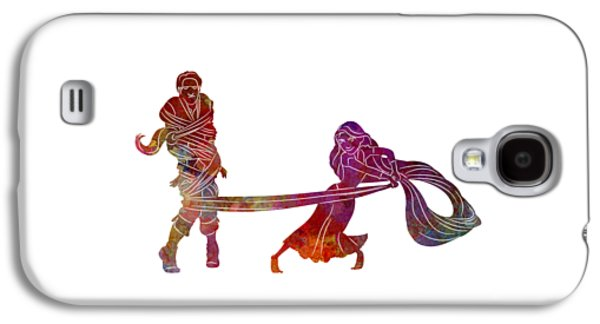 Rapunzel And Partner 02 In Watercolor Galaxy S4 Case by Pablo Romero