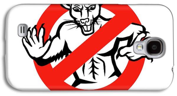 Rat Busted Stop Sign Retro Galaxy S4 Case by Aloysius Patrimonio