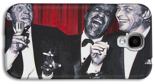 Frank Sinatra Paintings Galaxy S4 Cases - Rat Pack Galaxy S4 Case by Luis Ludzska