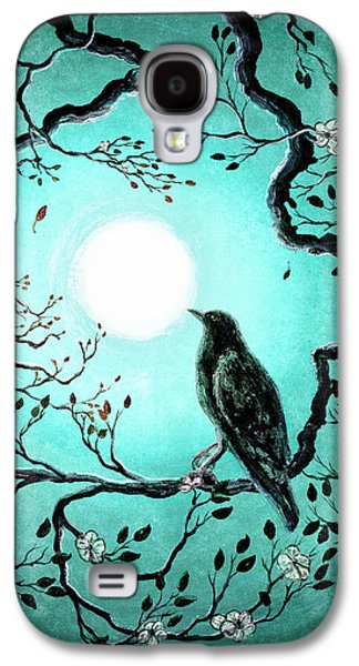 Raven In Teal Galaxy S4 Case by Laura Iverson