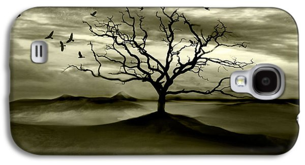 Surreal Landscape Digital Art Galaxy S4 Cases - Raven Valley Galaxy S4 Case by Photodream Art