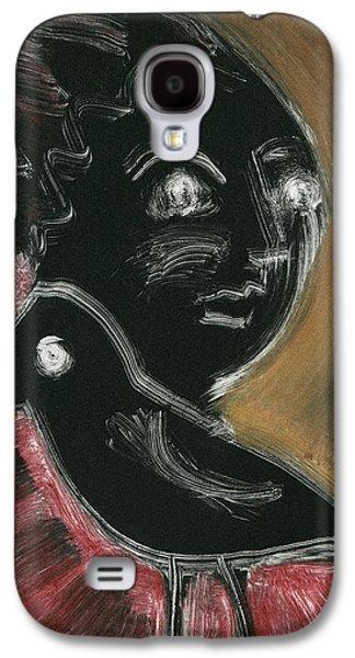 Raven Woman Galaxy S4 Case by Sheryl Karas