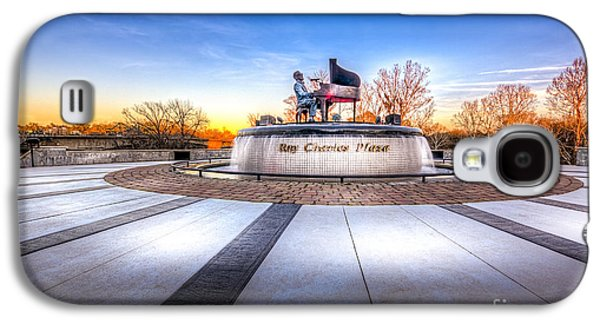 Pianist Photographs Galaxy S4 Cases - Ray Charles Plaza Galaxy S4 Case by Marvin Spates