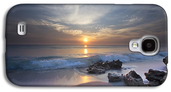Sanddunes Galaxy S4 Cases - Rays on the Waves Galaxy S4 Case by Debra and Dave Vanderlaan