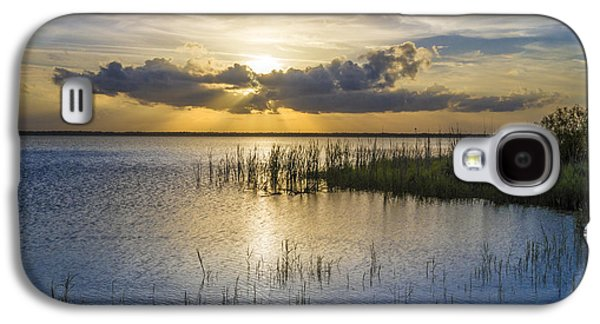 Sun Galaxy S4 Cases - Rays Over the Marsh Galaxy S4 Case by Debra and Dave Vanderlaan