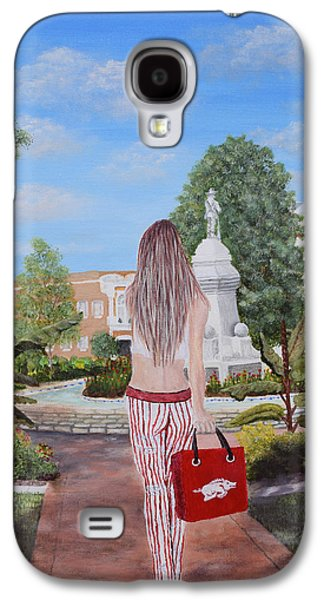 Razorback Swagger At Bentonville Square Galaxy S4 Case by Belinda Nagy