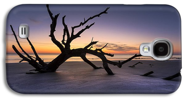 Sunset Abstract Galaxy S4 Cases - Reach Galaxy S4 Case by Debra and Dave Vanderlaan