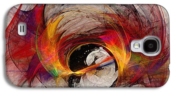 Reaction Abstract Art Galaxy S4 Case by Karin Kuhlmann