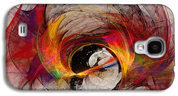 Modern Abstract Galaxy S4 Cases - Reaction Abstract Art Galaxy S4 Case by Karin Kuhlmann