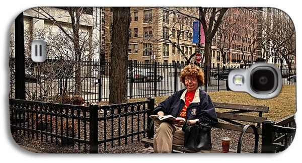 First Lady Galaxy S4 Cases - Reading in the Park Galaxy S4 Case by Andre Van Vegten