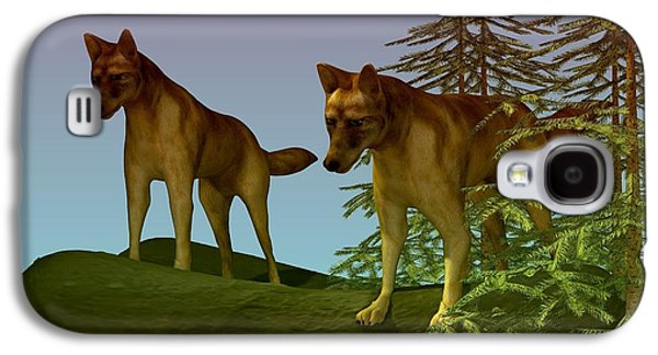 Dogs Digital Art Galaxy S4 Cases - Ready for the Hunt Galaxy S4 Case by Nancy Pauling