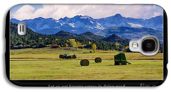 Machinery Galaxy S4 Cases - Reap a Harvest Galaxy S4 Case by Priscilla Burgers