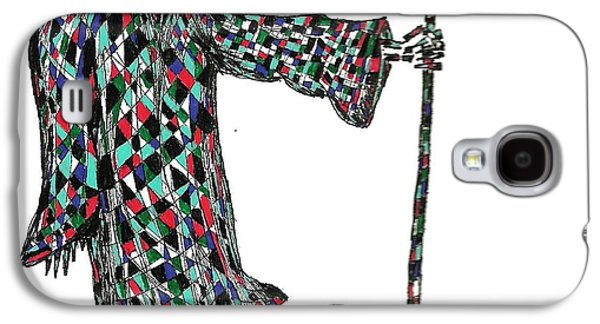Abstract Digital Drawings Galaxy S4 Cases - Reaper Galaxy S4 Case by AR Teeter