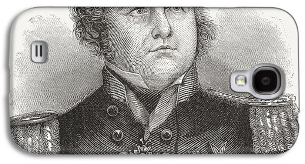 Franklin Drawings Galaxy S4 Cases - Rear-admiral Sir John Franklin, 1786 Galaxy S4 Case by Ken Welsh