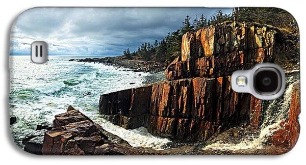 Coastal Maine Galaxy S4 Cases - Receding Storm Galaxy S4 Case by Bill Caldwell -        ABeautifulSky Photography