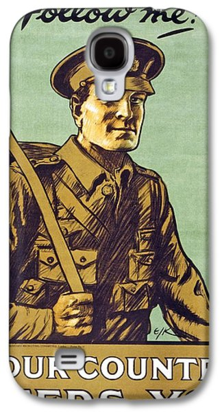 Green Drawings Galaxy S4 Cases - Recruitment Poster Follow Me Your Country Needs You Galaxy S4 Case by English School