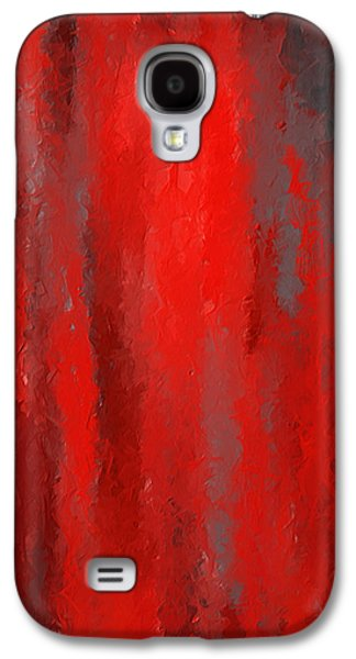 Red And Bold - Red And Gray Art Galaxy S4 Case by Lourry Legarde