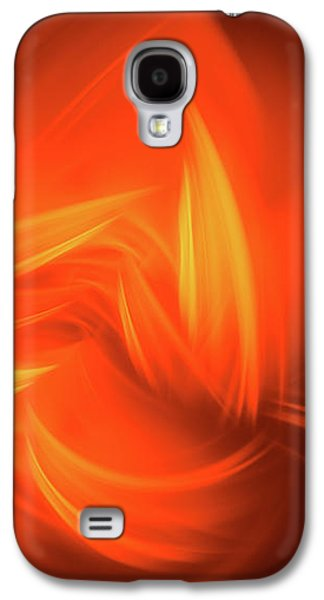 Red And Orange Fractal Abstract Galaxy S4 Case by Matthias Hauser