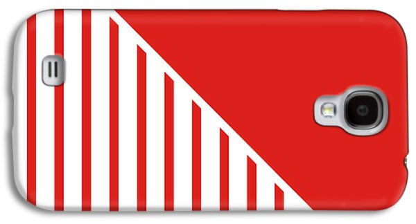 Red And White Triangles Galaxy S4 Case by Linda Woods