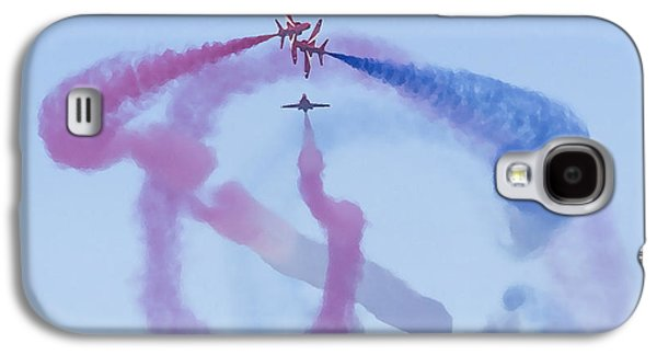 Transportation Ceramics Galaxy S4 Cases - Red Arrows Art 1 Galaxy S4 Case by Roy Crowther
