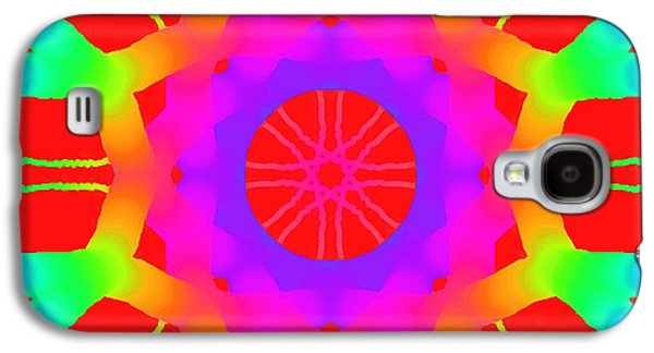 Abstract Digital Paintings Galaxy S4 Cases - Red Ball  Galaxy S4 Case by Floyd Snyder