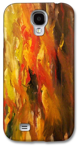 Abstract Landscape Galaxy S4 Cases - Red Bark Galaxy S4 Case by Rachel Moore