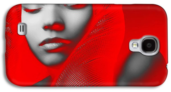 Dressed Galaxy S4 Cases - Red Beauty  Galaxy S4 Case by Naxart Studio