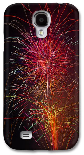 Red Blazing Fireworks Galaxy S4 Case by Garry Gay