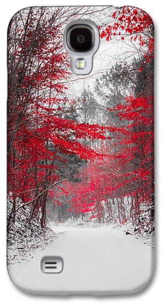 Red Blossoms  Galaxy S4 Case by Parker Cunningham