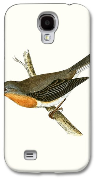 Red Breasted Flycatcher Galaxy S4 Case by English School