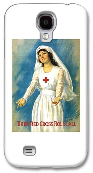 Ww1 Galaxy S4 Cases - Red Cross Nurse - WW1 Galaxy S4 Case by War Is Hell Store