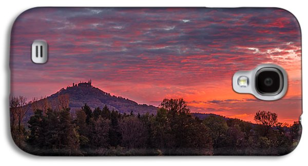 Landmarks Photographs Galaxy S4 Cases - Red Dawn over the Hohenzollern Castle Galaxy S4 Case by Dmytro Korol
