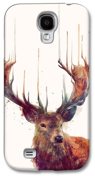 Red Deer Galaxy S4 Case by Amy Hamilton