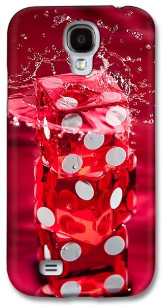 Red Dice Splash Galaxy S4 Case by Steve Gadomski