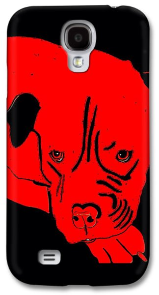 Dogs Digital Art Galaxy S4 Cases - Red Dog Galaxy S4 Case by Karen Harding