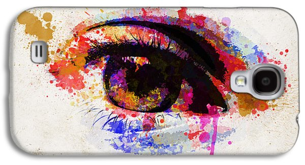 Abstract Sights Digital Galaxy S4 Cases - Red eye watercolor Galaxy S4 Case by Delphimages Photo Creations