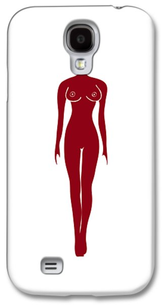 Red Female Silhouette Galaxy S4 Case by Frank Tschakert