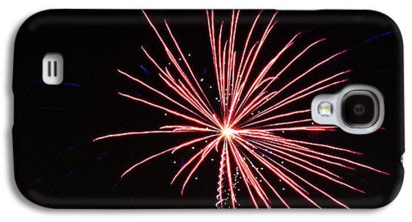 4th July Galaxy S4 Cases - Red Fireworks Galaxy S4 Case by Emily Smith