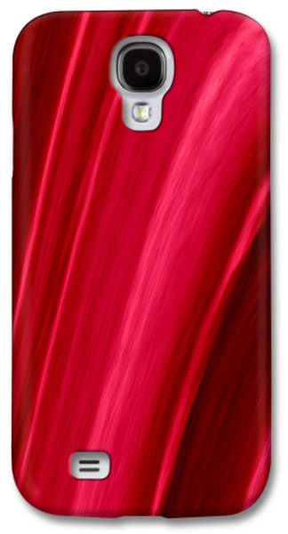 Abstract Digital Tapestries - Textiles Galaxy S4 Cases - Red Folds Galaxy S4 Case by Suzi Freeman