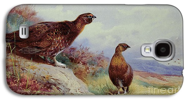 Red Grouse On The Moor, 1917 Galaxy S4 Case by Archibald Thorburn