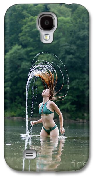 Red Hair Flip Galaxy S4 Case by Dan Friend