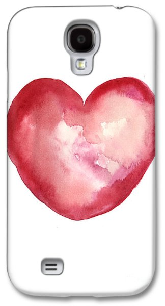 Red Heart Valentine's Day Gift Galaxy S4 Case by Joanna Szmerdt
